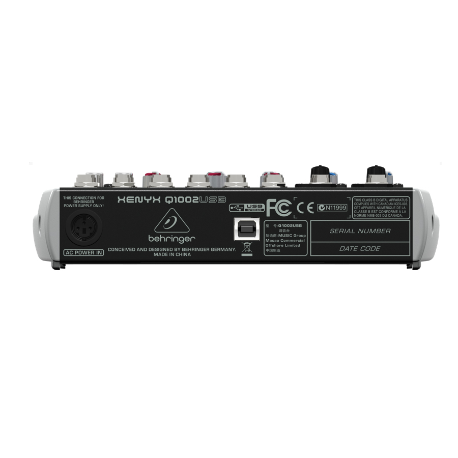 Behringer Q1002USB  Rear View
