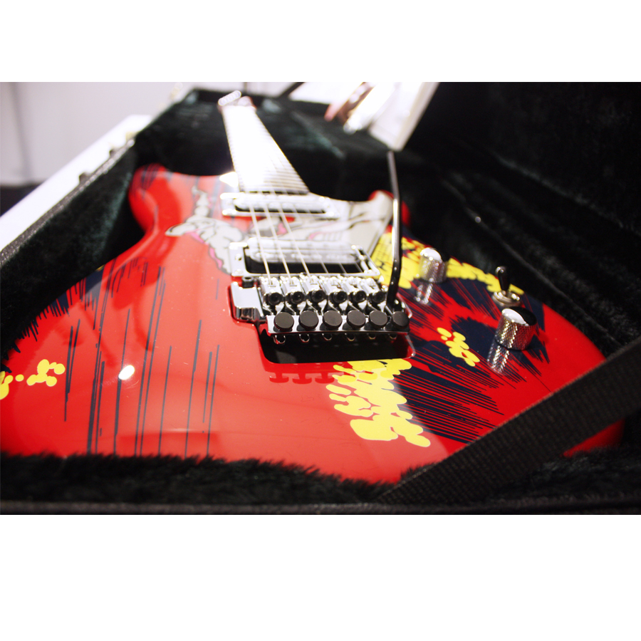 Ibanez JS20S Joe Satriani Blemished Bridge Detail