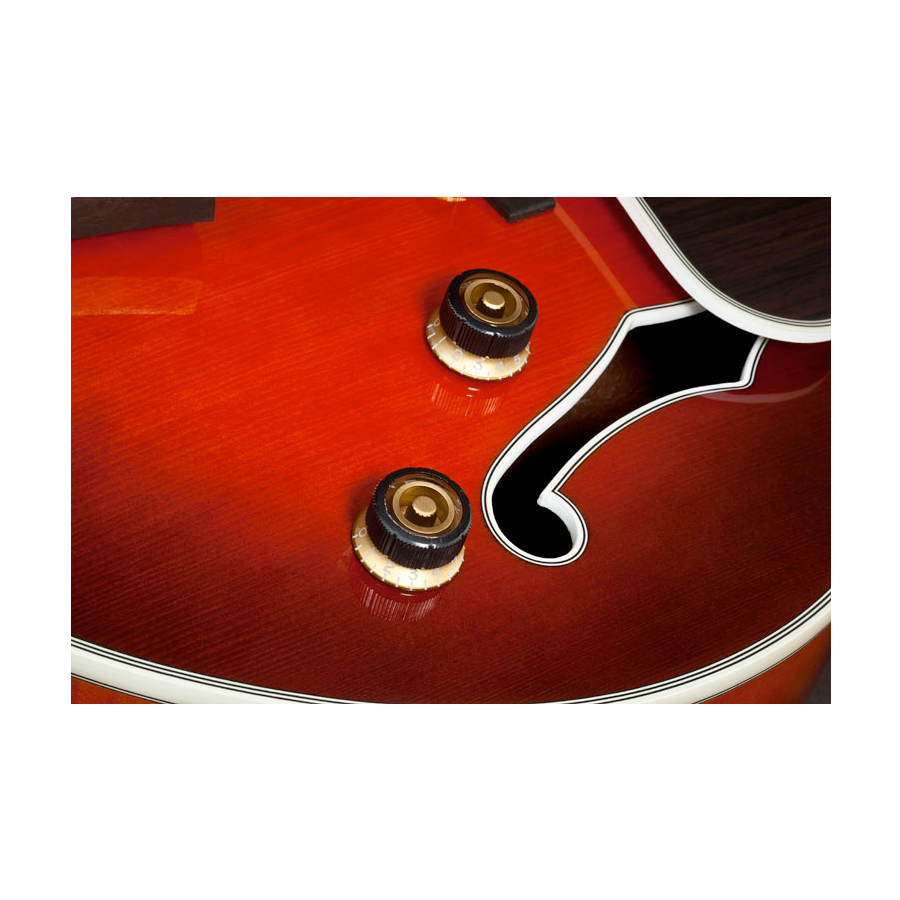 Ibanez AFJ81 Sunset Red The Sure Grip III knobs are designed for precise control with nonslip functionality, along with smooth and classic looks.