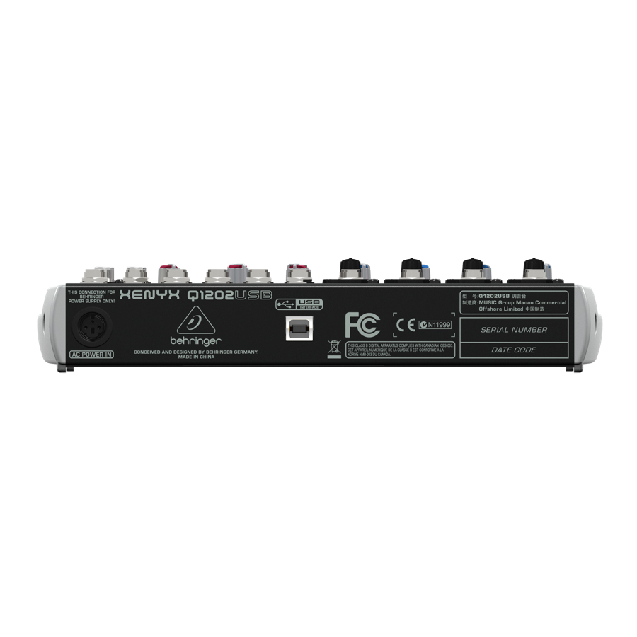 Behringer XENYX Q1202USB Rear View