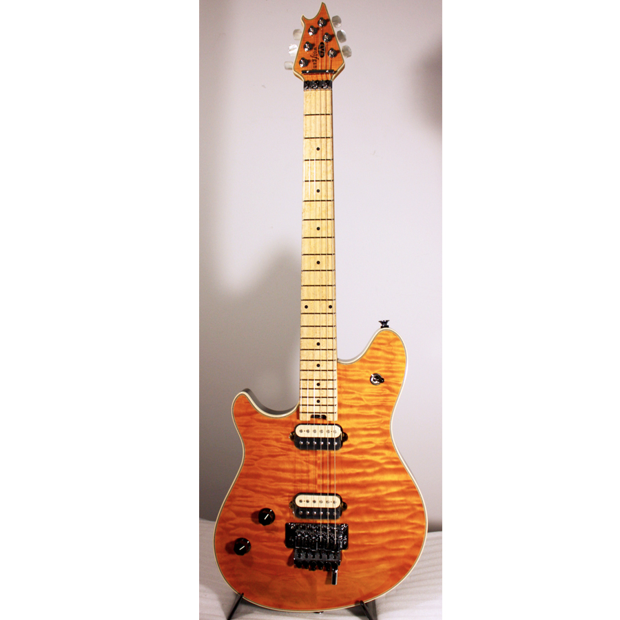 793a268e268 8th Street Music - EVH Wolfgang Transparent Amber Quilted Maple Top ...