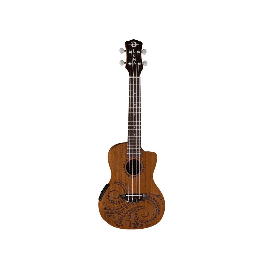 Mahogany Tattoo Acoustic-Electric Concert Ukulele
