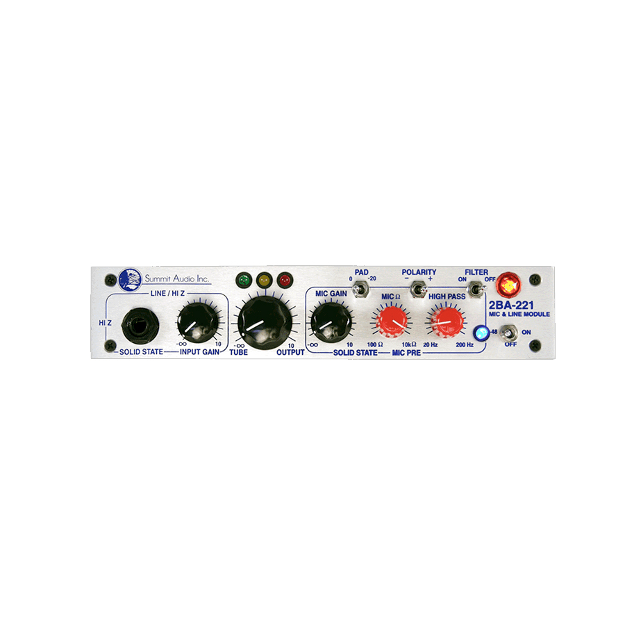 Summit Audio 2BA-221 Front Panel