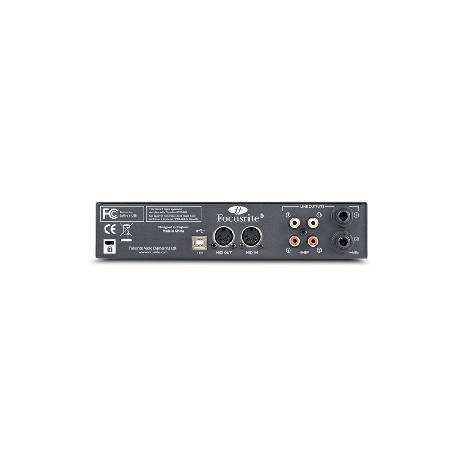 Focusrite Saffire 6 USB Rear View