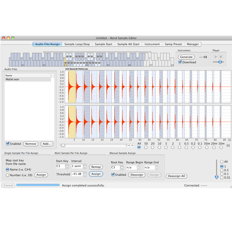 Nord Sample Library and Sample Editor