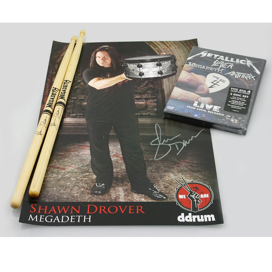 Ddrums Artist Series Shawn Drover Signature Snare Limited Edition Collectors Pack Collectors Pack