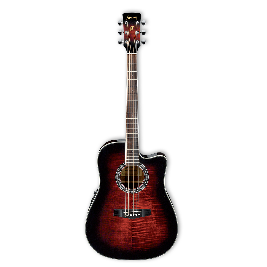 PF28ECE Transparent Red Sunburst
