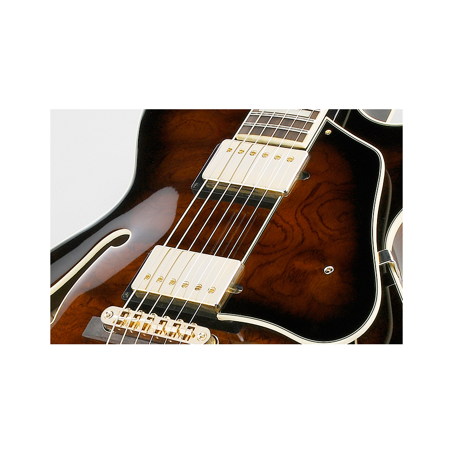 Ibanez AG95DBS Brown Sunburst Pickups