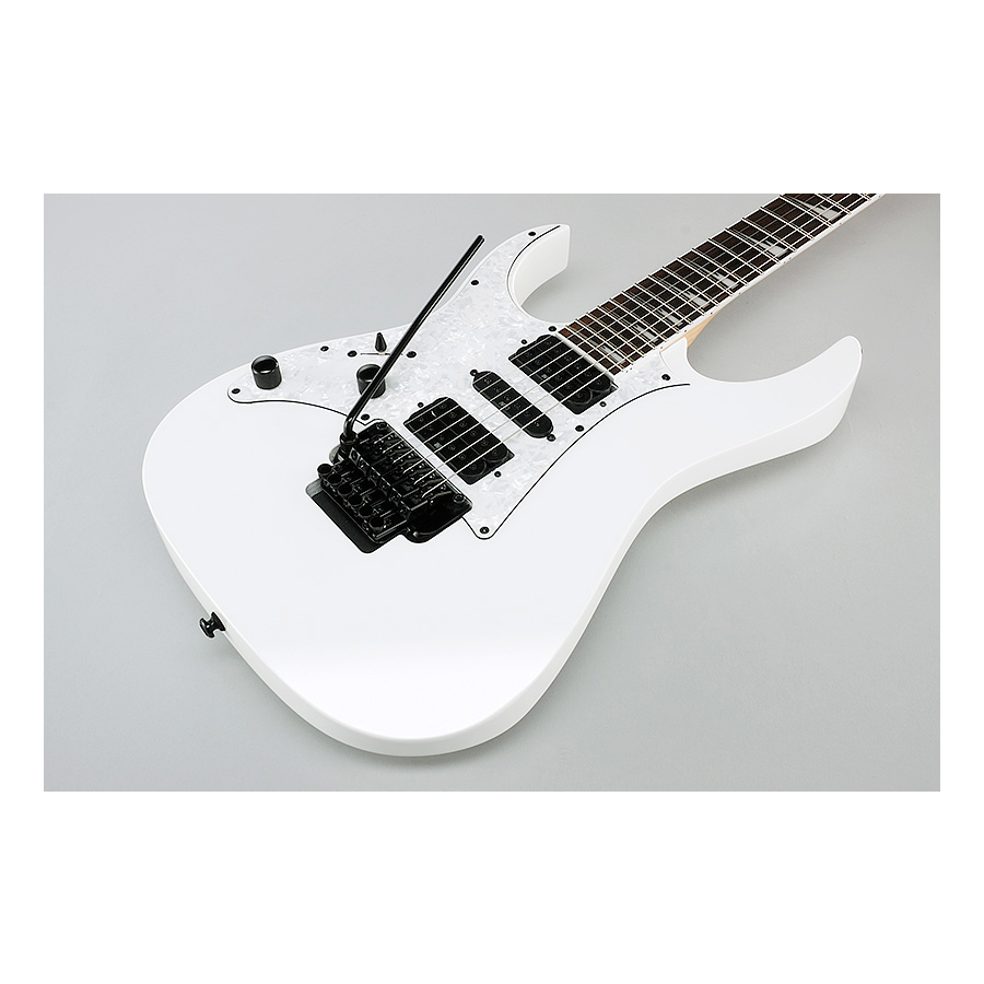 Ibanez RG450DXBL White Left-Handed Body Detail