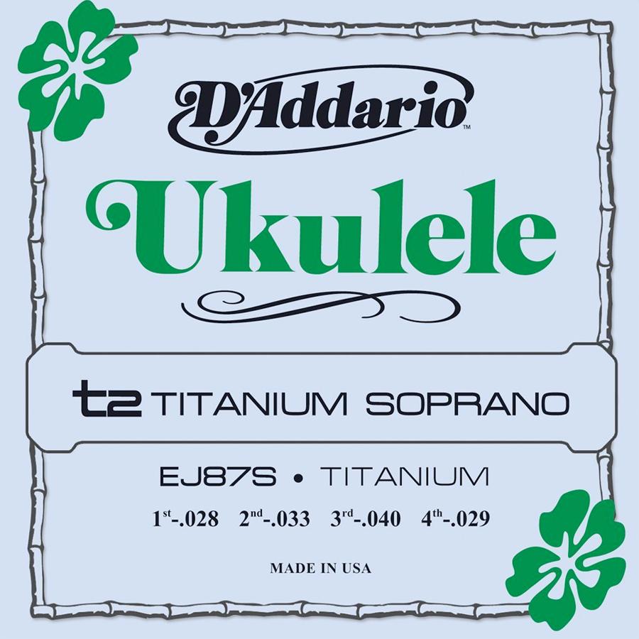 EJ87S Titanium Ukulele Strings Soprano
