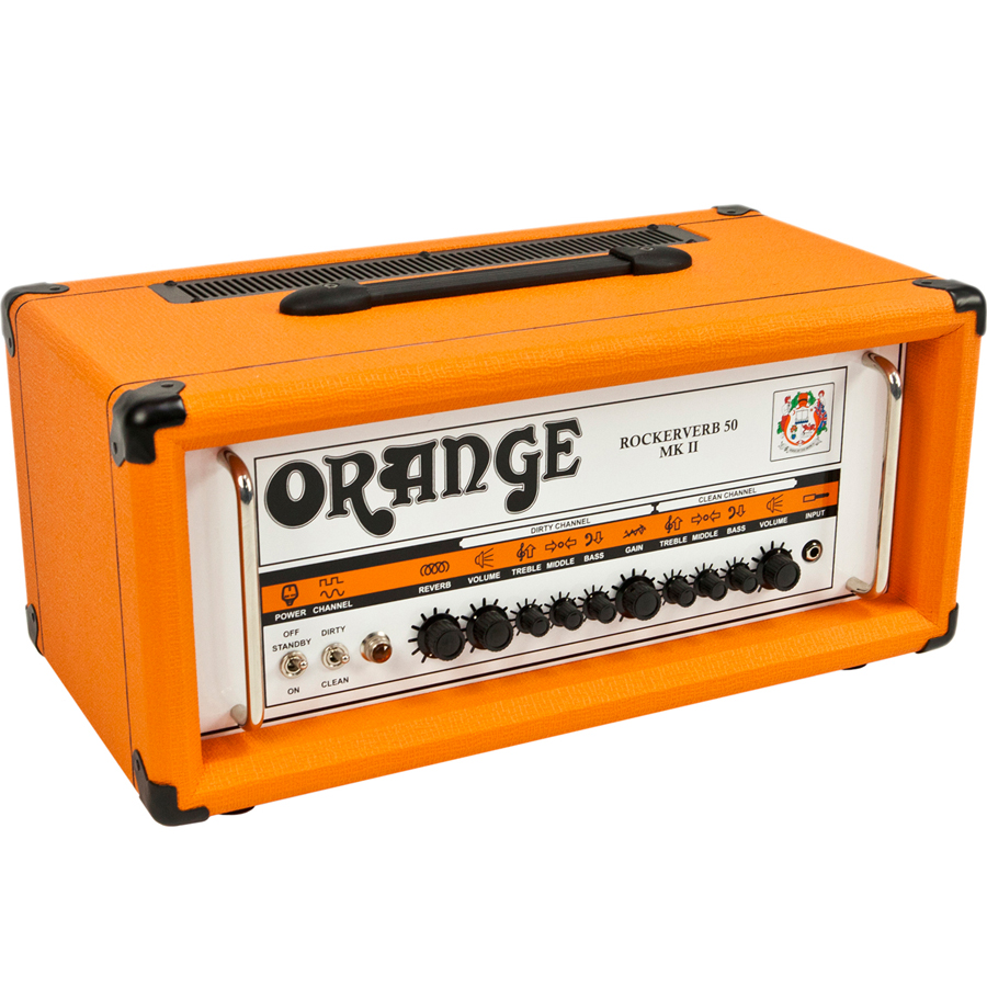 Orange Rockerverb 50 MKII Head Angled View