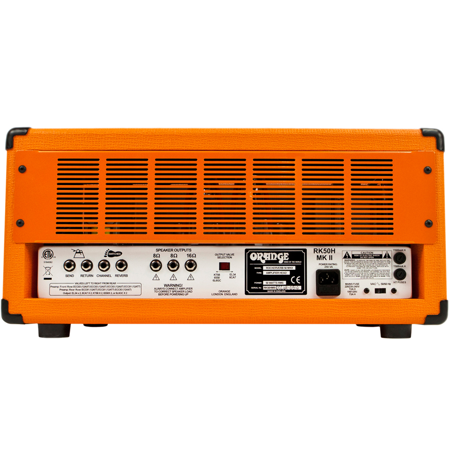 Orange Rockerverb 50 MKII Head Rear View