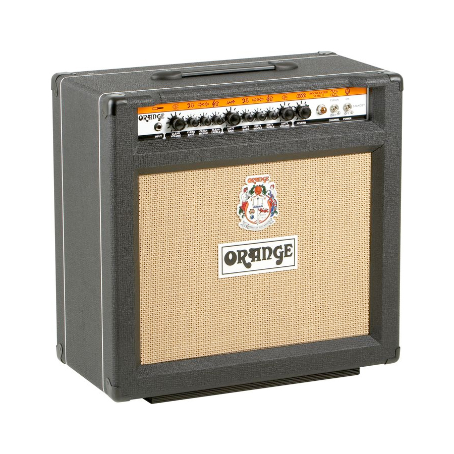 Orange Rockerverb 50 MKII 1x12 Combo Black Angled View