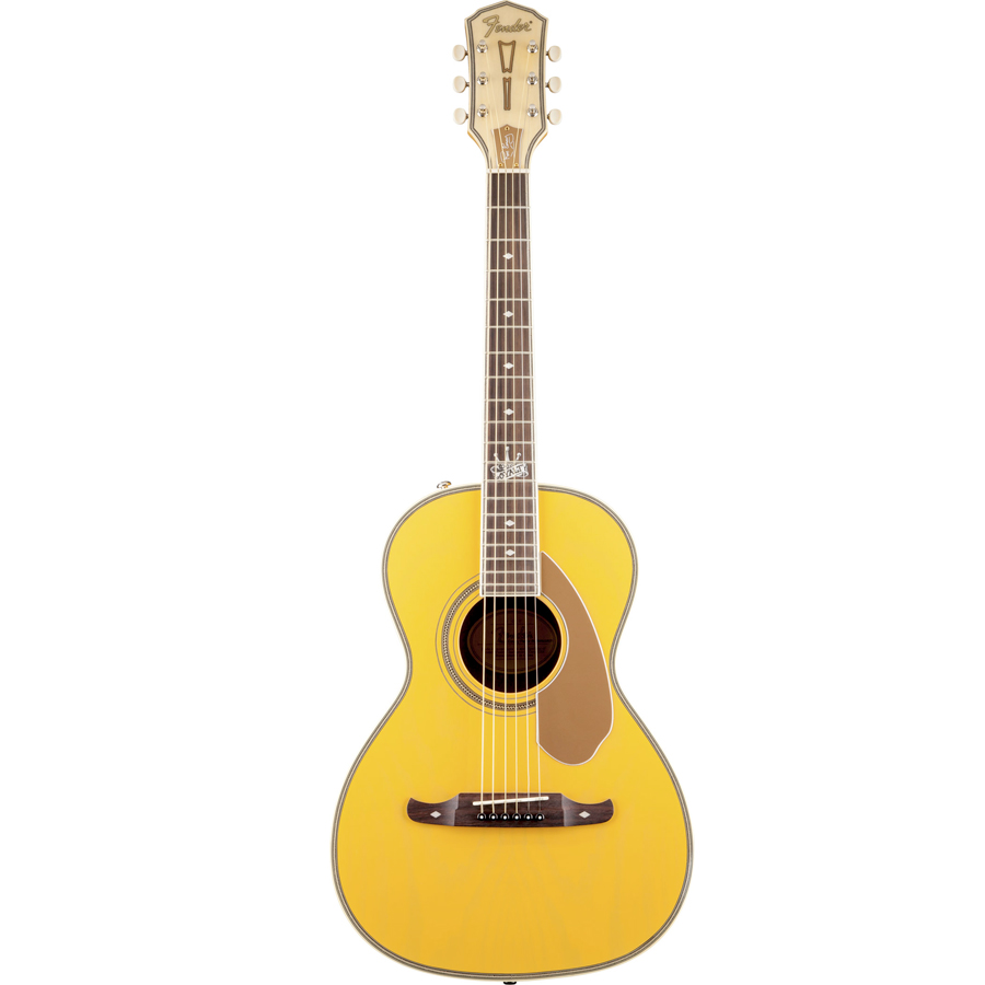 Fender Ron Emory Loyalty Parlor Ash Butterscotch  Left Angled