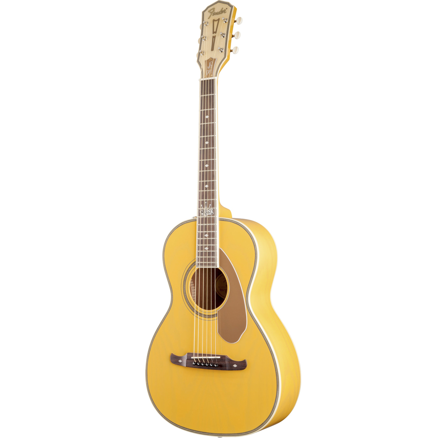Fender Ron Emory Loyalty Parlor Ash Butterscotch  Right Angled