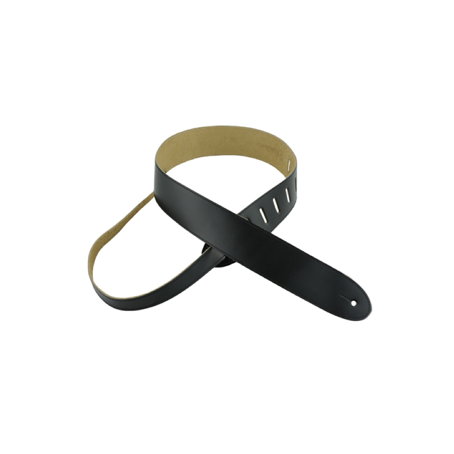 Basic Leather Guitar Strap Black