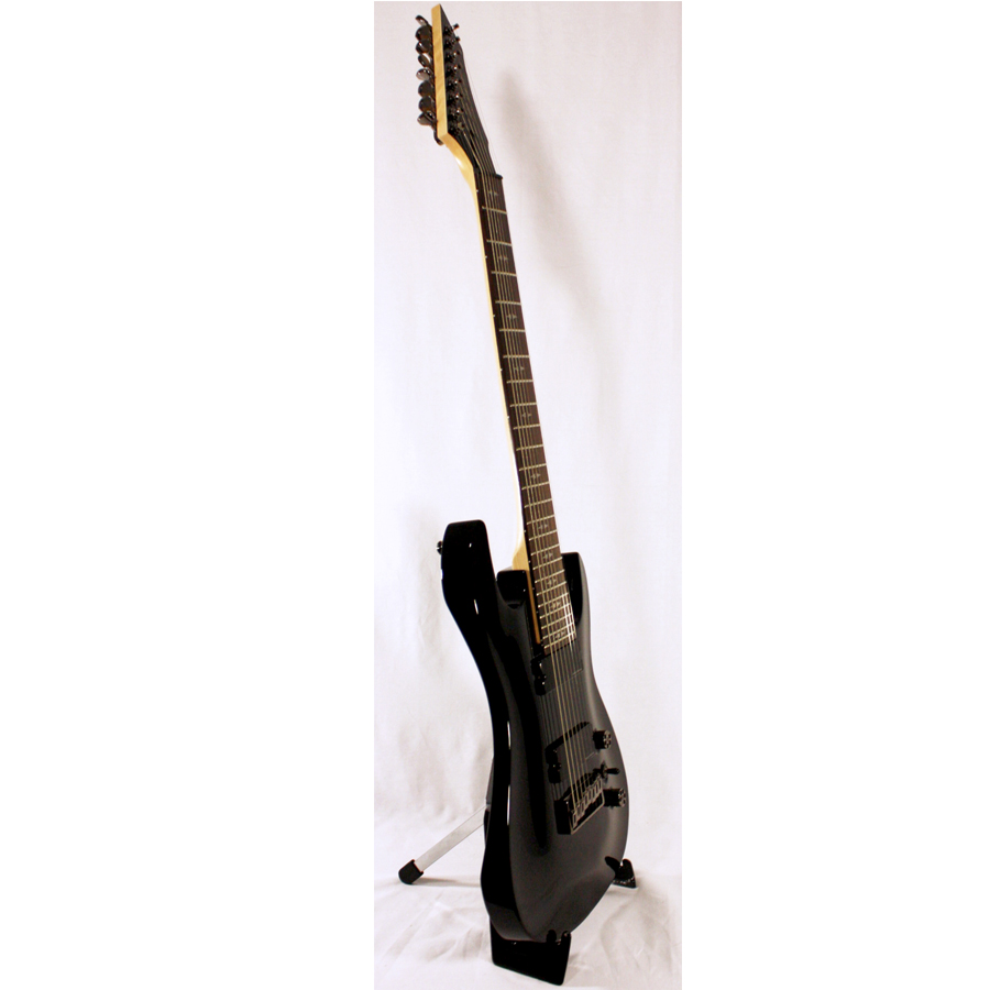 BC Rich Outlaw 8 Gloss Black Blemished Left Angle