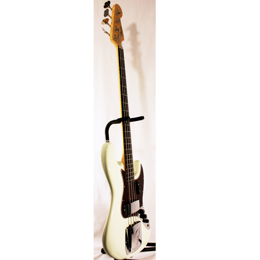 Fender American Vintage 64 Jazz Bass Olympic White Side View