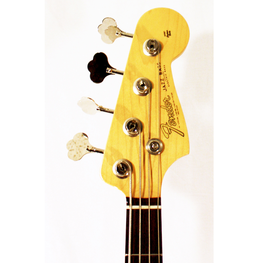 Fender American Vintage 64 Jazz Bass Olympic White Headstock Detail