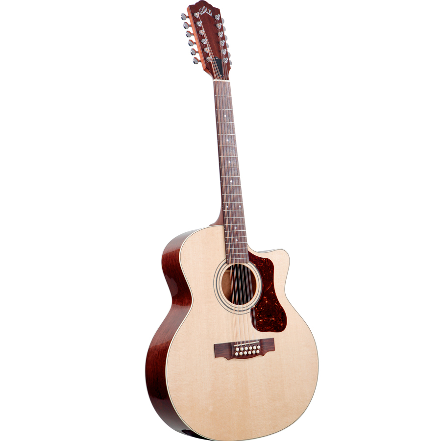 Guild F-212XLCE Standard Natural Left Side