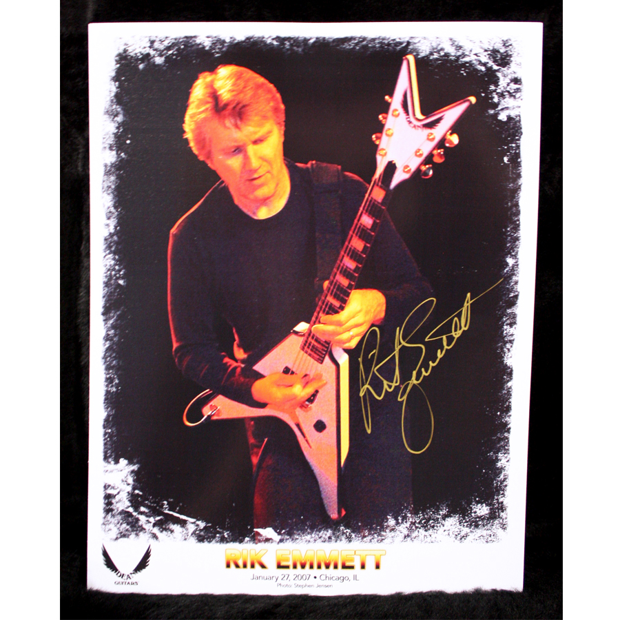 Dean Rik Emmett USA Signature Guitar Signed Picture