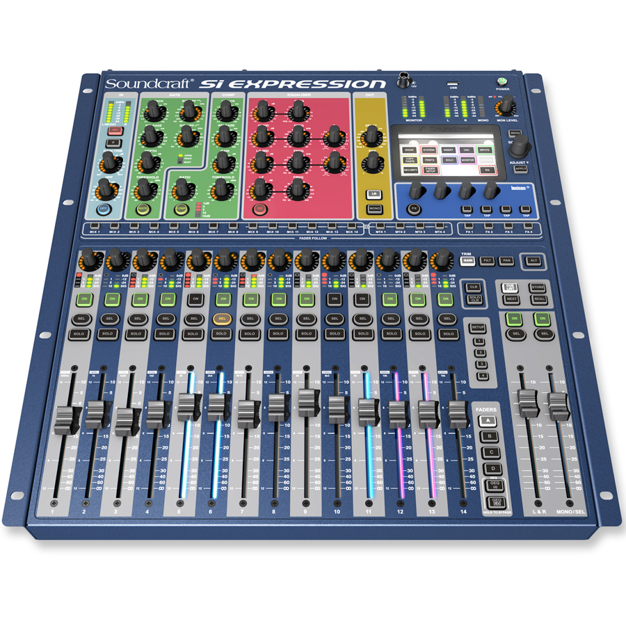 Soundcraft Si Digital Expression 1 Angled View