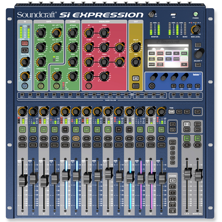 Soundcraft Si Digital Expression 1 Top View