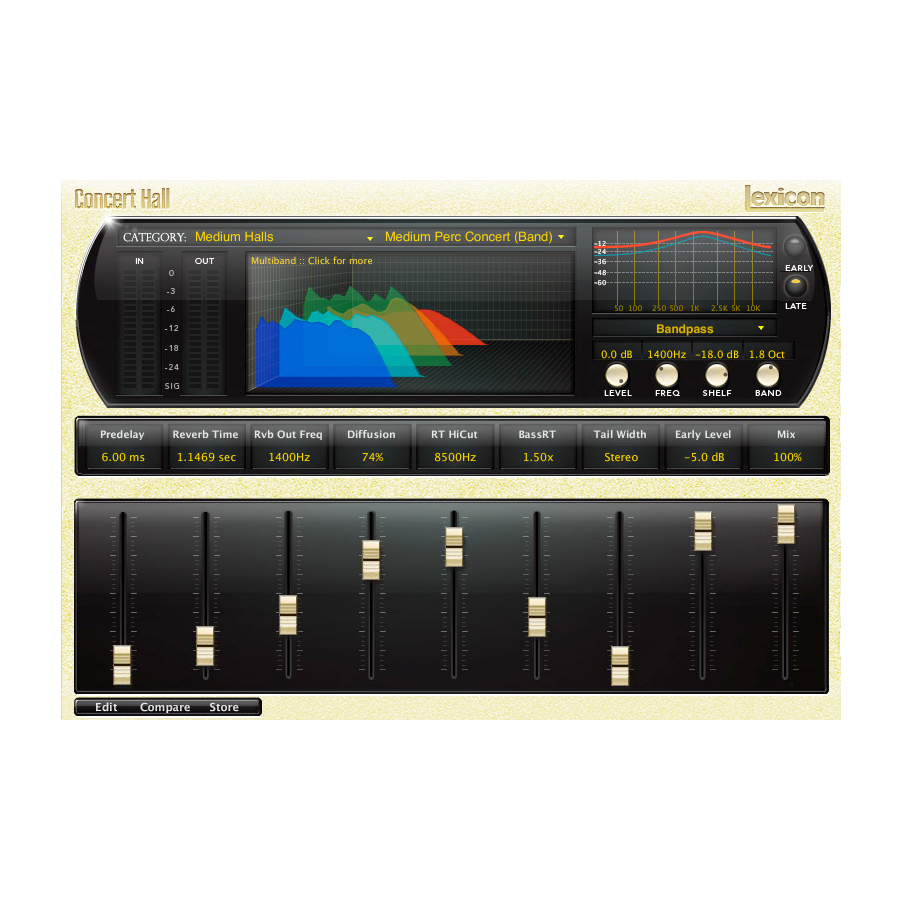 Lexicon PCM Native Reverb Plug-in Bundle PLPCMRB Concert Hall