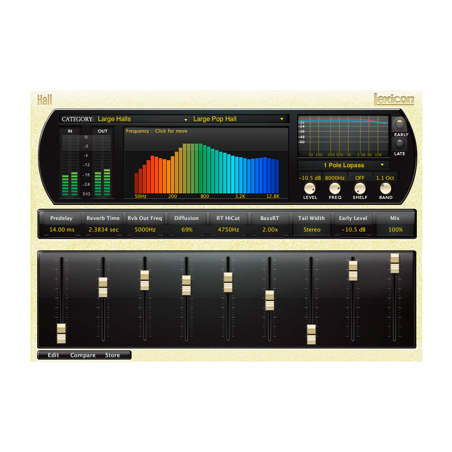 Lexicon PCM Native Reverb Plug-in Bundle PLPCMRB Hall