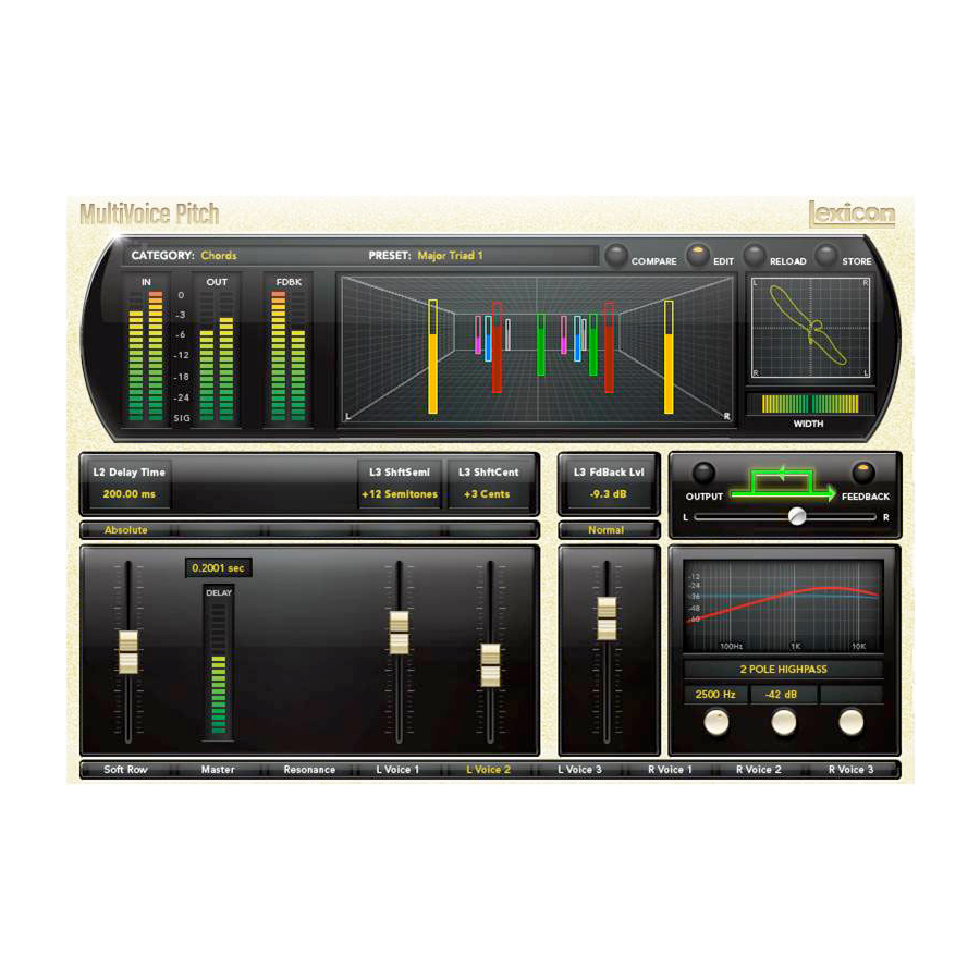 Lexicon PCM Native Effects Plug-in Bundle MultiVoice Pitch