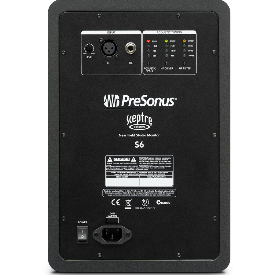 Presonus Sceptre S6 Pair Rear View