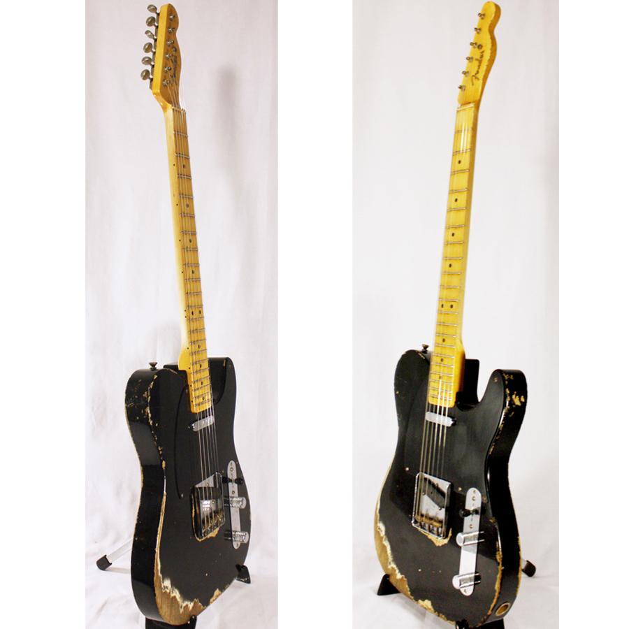 Fender 1951 Nocaster Telecaster Heavy Relic BlackAngled View