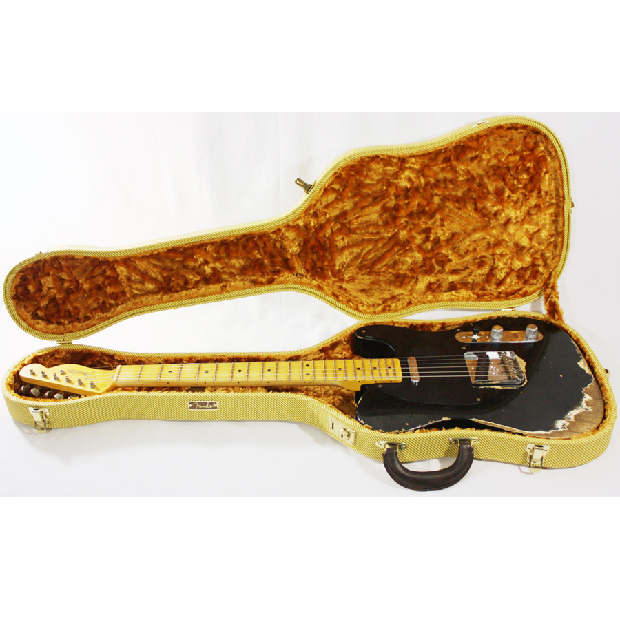Fender 1951 Nocaster Telecaster Heavy Relic Black In Custom Tele Case
