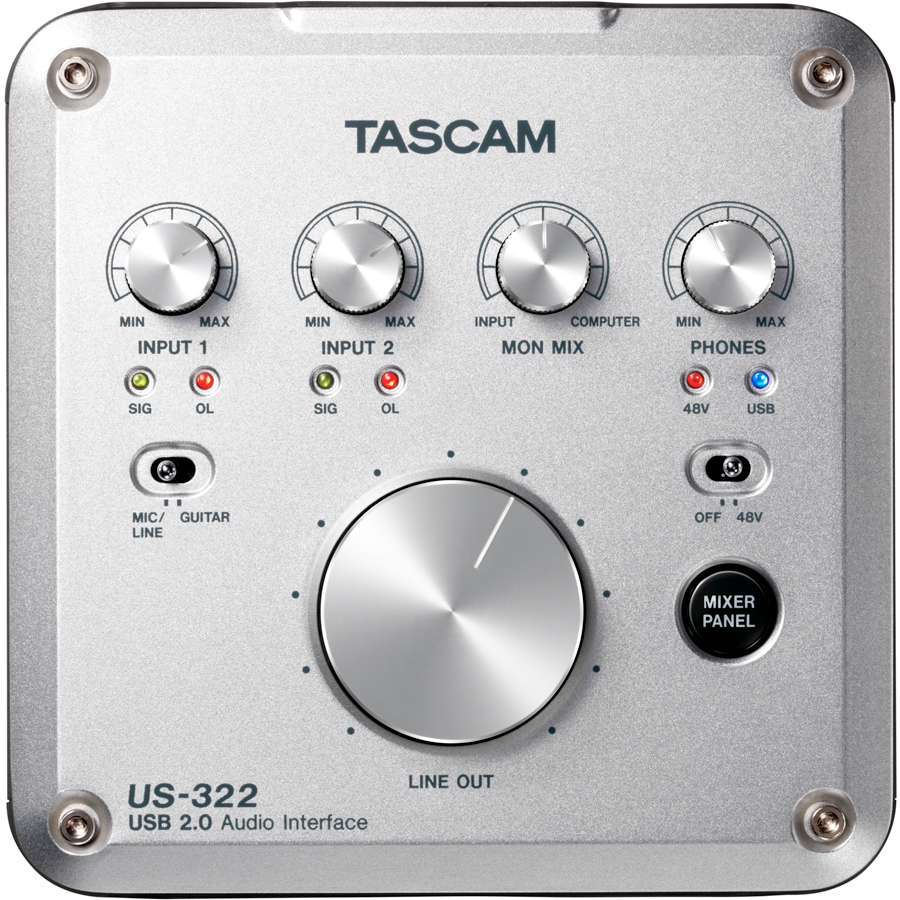 Tascam US-322 Top View