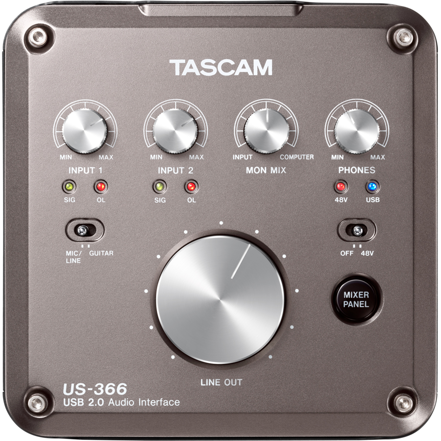 Tascam US-366 Top View