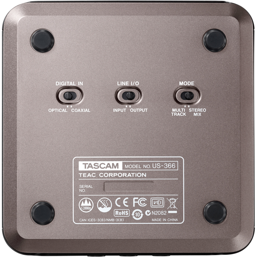 Tascam US-366 Bottom View