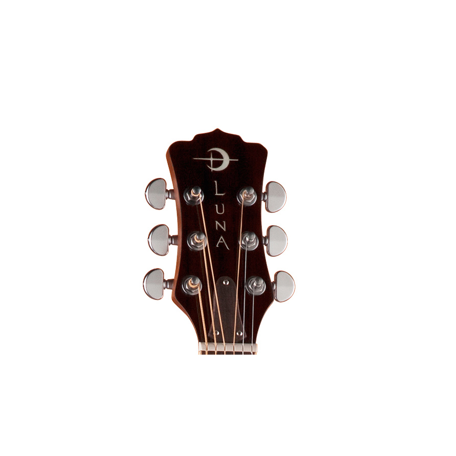 Luna Guitars Oracle Dragonfly Headstock Detail