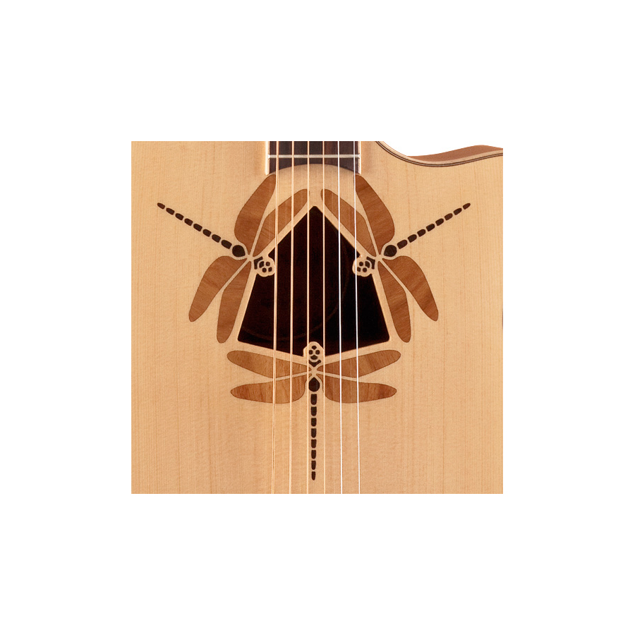 Luna Guitars Oracle Dragonfly Dragonfly Detail