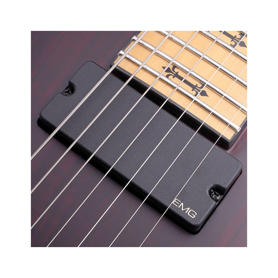 Schecter Jeff Loomis-7 FR Vampyre Red Satin Pickup Detail