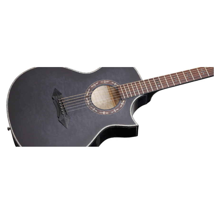Schecter Hellraiser Stage Acoustic See-Thru Black Body Detail
