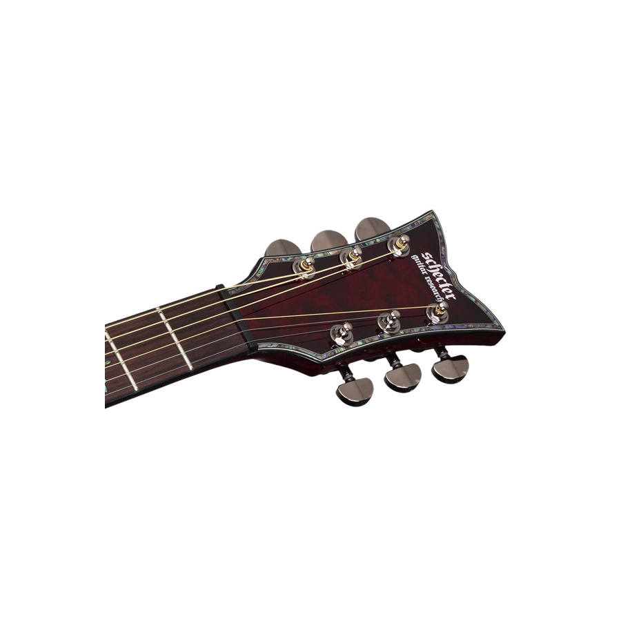 Schecter Hellraiser Stage Acoustic See-Thru Black Headstock