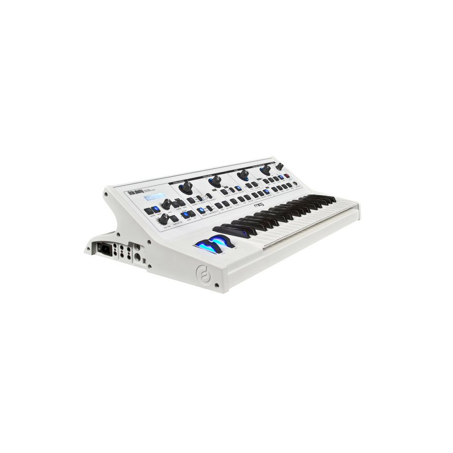 Moog Little Phatty - Stage II White Refurbished Angled View