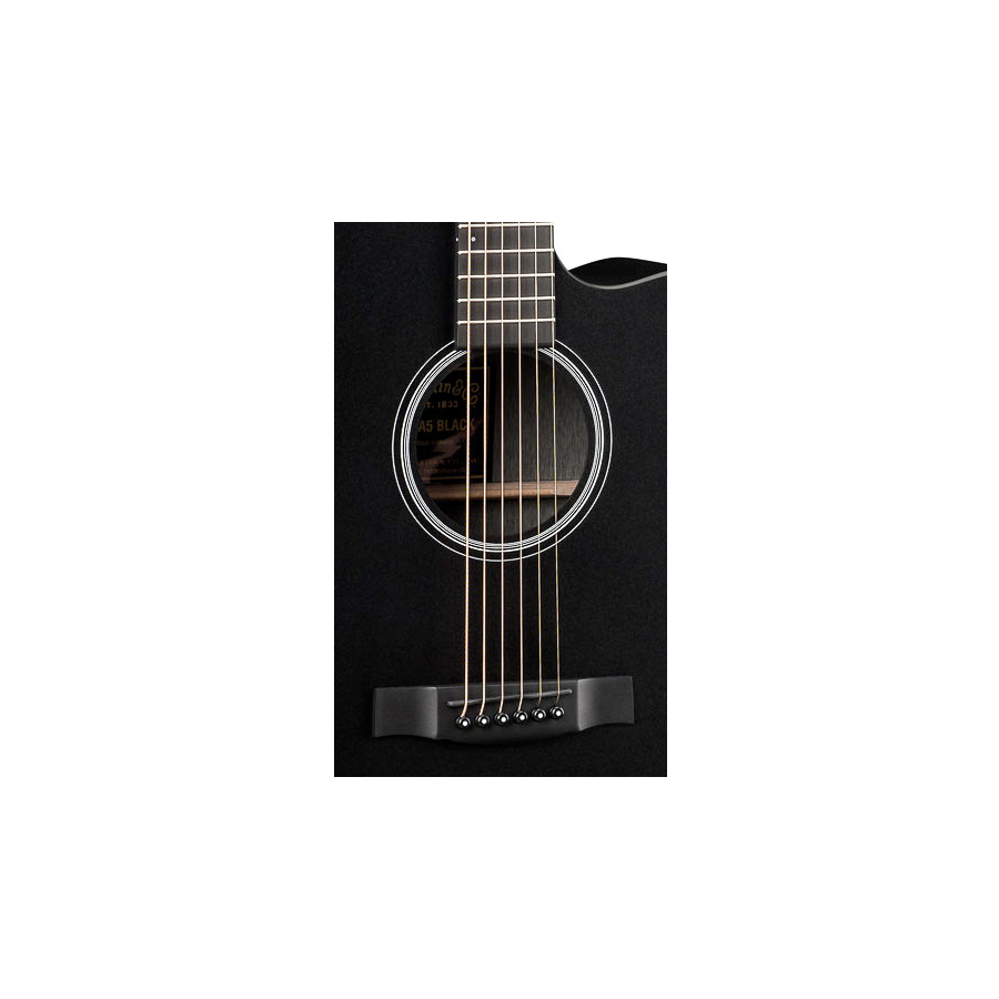 Martin DCPA5 Black Body Detail