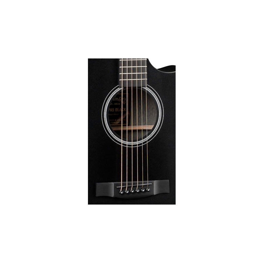 Martin GPCPA5 Black Soundhole Detail