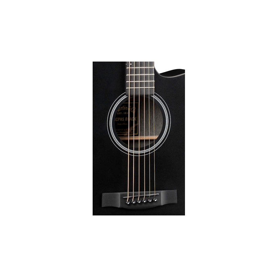 Martin OMCPA5 Black Soundhole Detail