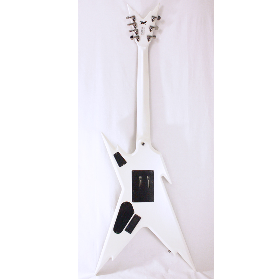 Dean Razorback 7 255 Metallic White CBK Rear View