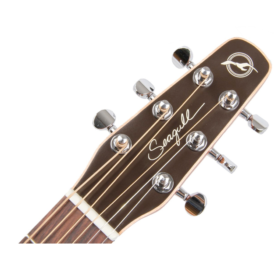 Seagull Entourage Natural Spruce CW QI Headstock Detail