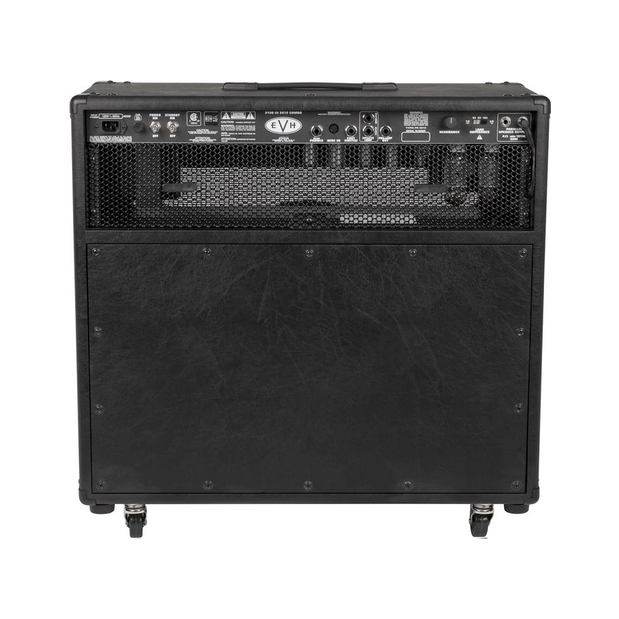EVH 5150III 2x12 50W Tube Guitar Combo Black Rear View