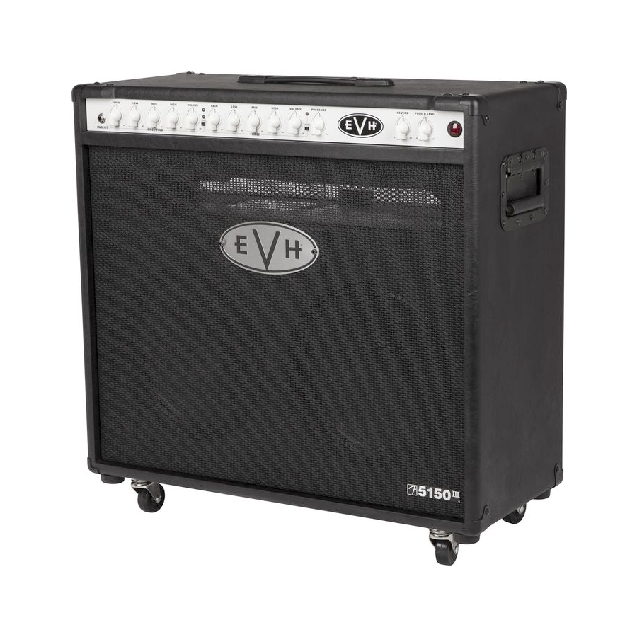 EVH 5150III 2x12 50W Tube Guitar Combo Black Angled View