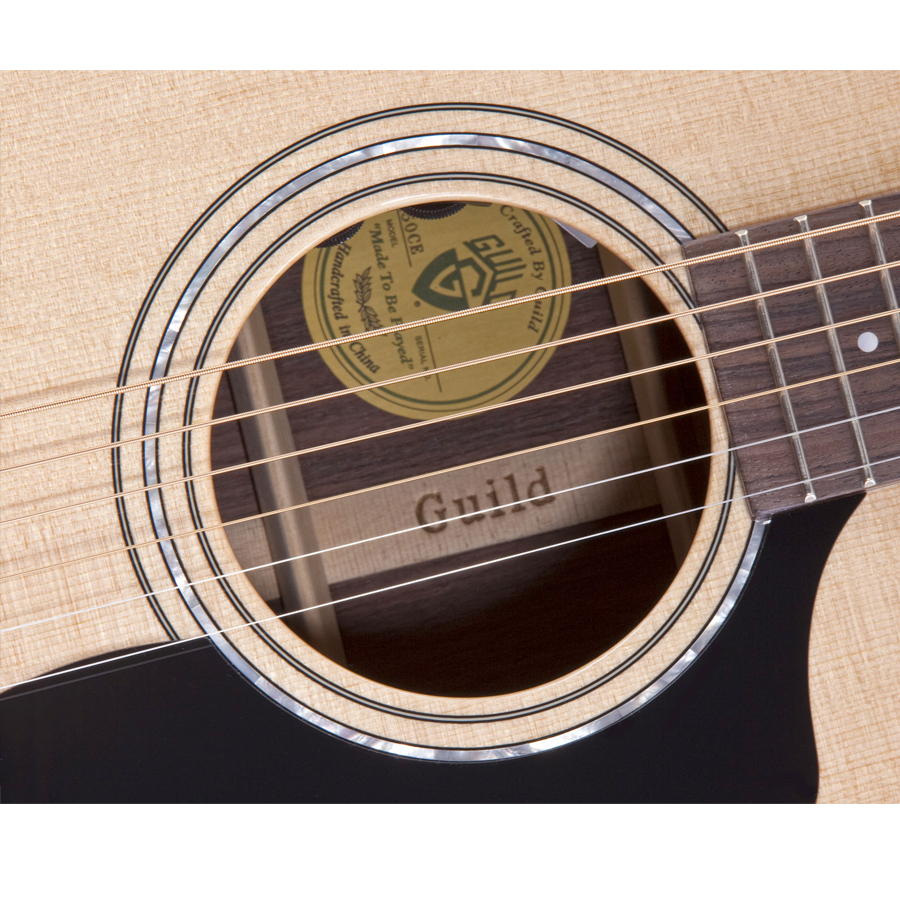 Guild D-150CE Natural Soundhole